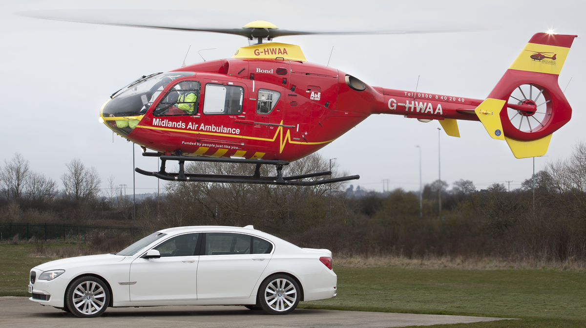 White 7 with Midlands Air Ambulance